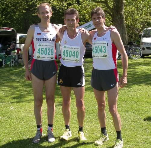 Die drei Sieger von links Albrecht, Pingpank und Ruminski
