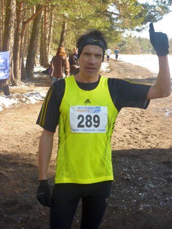 Europameister Thomas Ruminski im Zielbereich