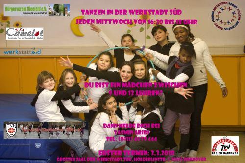 Neues Tanzangebot für 9-13 jährige Mädchen im Stadtteil Kleefeld