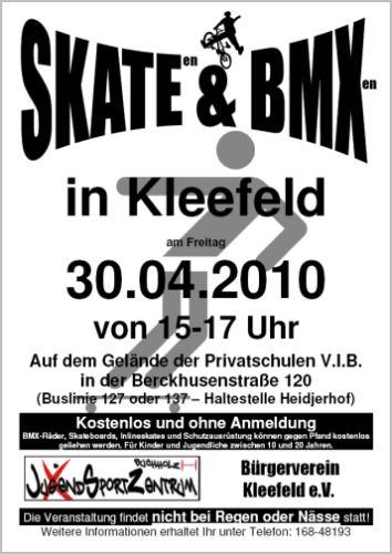 Skaten und BMXen in Kleefeld
