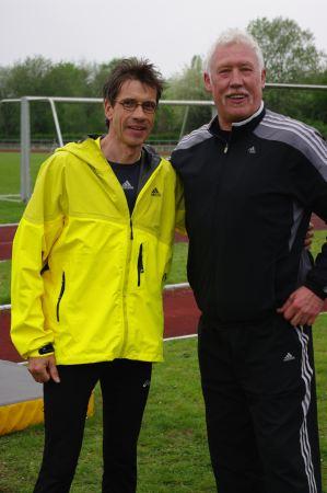 Thomas Ruminski mit Olypiasieger Kosakiewicz in Sarstedt