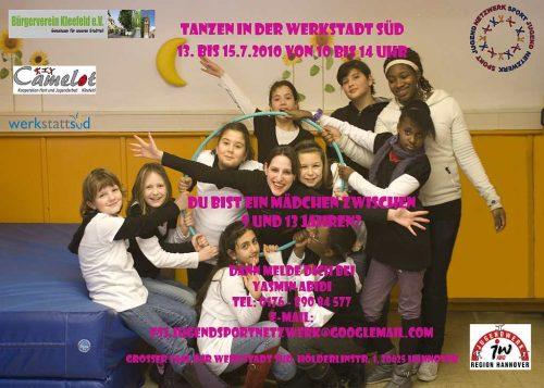 Tanzprojekt für Mädchen im Stadtteil Kleefeld