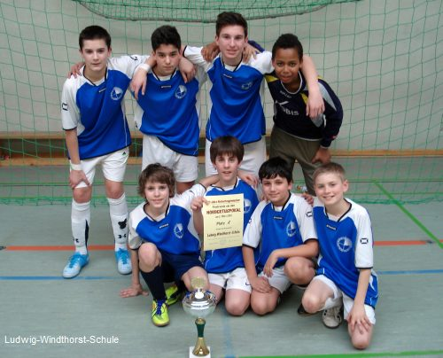 Siegermannschaft der Ludwig-Windthorst-Schule