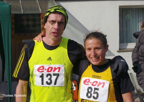 Thomas Ruminski und Colin Ricard nach dem Zieleinlauf
