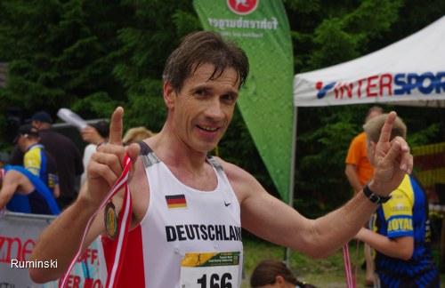 Thomas Ruminski nach dem Zieleinlauf bei der EM