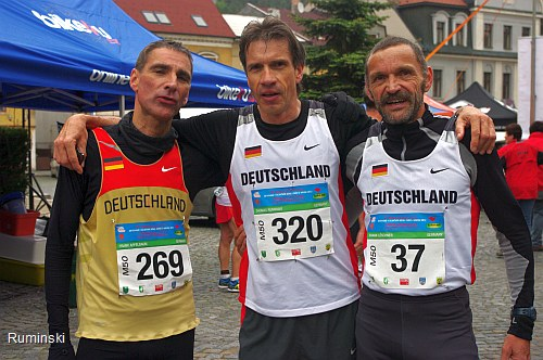Frank Apfelbaum (SSG Königswinter), Thomas Ruminski (SVE Hiddestorf), Frank Löschner (TV Büschergrund / v.l.)