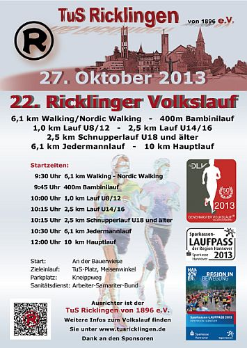 22. Ricklinger Volkslauf 2013