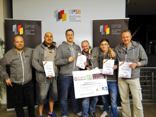 Das siegreiche Team von All In Poker Hannover