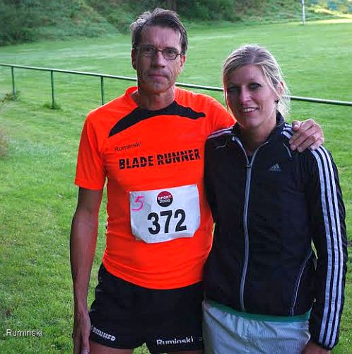 Die Sieger Thomas Ruminski und Anike Nesselrath (v.l.)