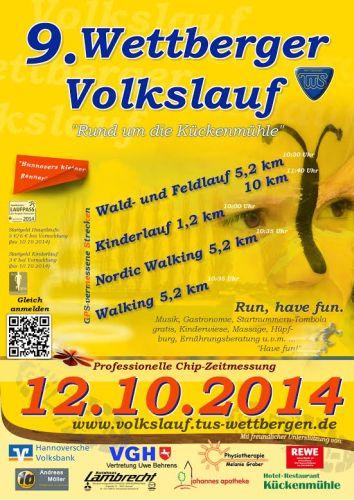 9. Wettberger Volkslauf am 12.10.2014!