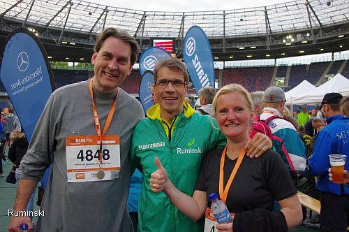 Sven Eric Molzahn (Geschftsfhrer Honeywell), Europameister Thomas Ruminski und Katrin Grtner (Produkt Manager / v.l.)