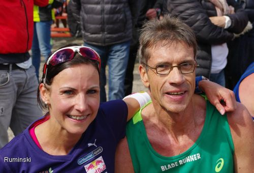 Sabrina Mockenhaupt (LG Sieg) und Thomas Ruminski (SVE Hiddestorf)