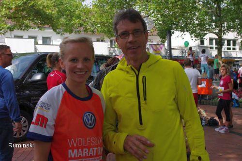 Ulrike Wendt (Hannover 96) und Thomas Ruminski (SVE Hiddestorf)