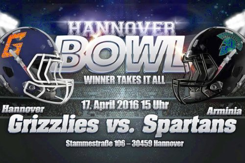 Hannover Bowl: Sonntag, 17.04.2016