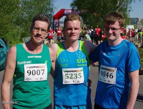 Thomas Ruminski (SVE Hiddestorf), Louis Hellmuth (ULV Wolfsburg), Paul Blanke