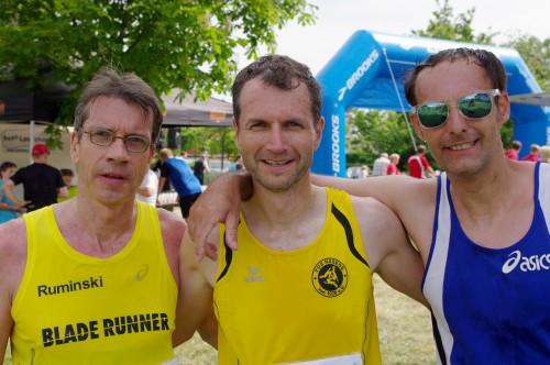 Europameister Thomas Ruminski (SVE Hiddestorf), Lars Hampel (TuS Hasede), Frank Weissgerber (Gross Bülten / v.l.)