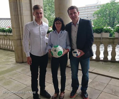 Maurice Springfeld, Peggy Keller und Daniel Stendel