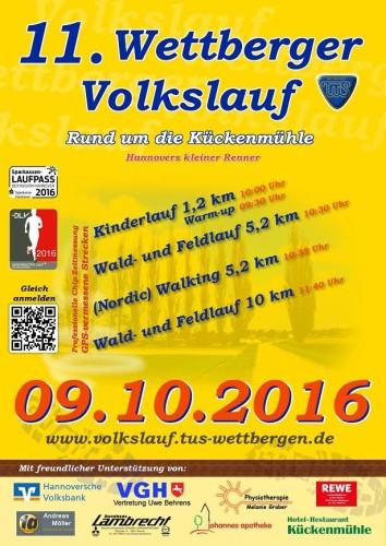 11. Wettberger Volkslauf am 09.10.2016