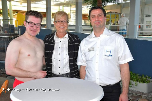 Bezirksbürgermeisters Henning Hofmann: 25 Jahre Nord-Ost-Bad
