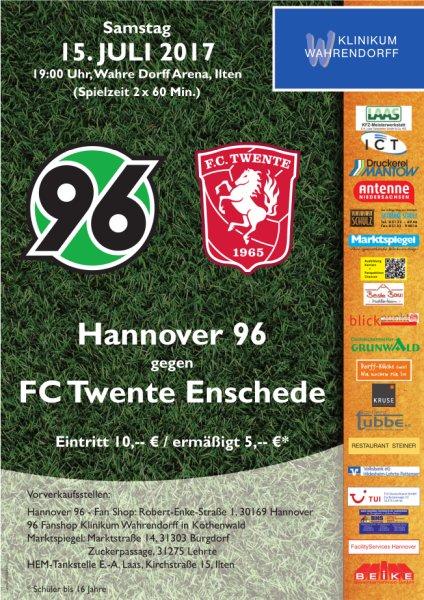 Hannover 96 trifft auf FC Twente Enschede am 15.07.2017