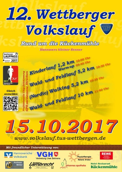 Wettberger Volkslauf am 15.10.2017