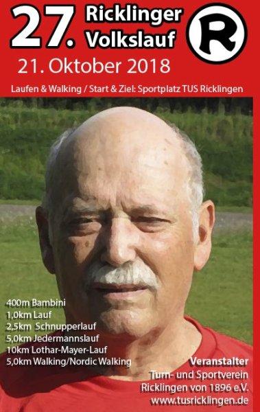 27. Ricklinger Volkslauf - Sonntag, 21. Oktober 2018