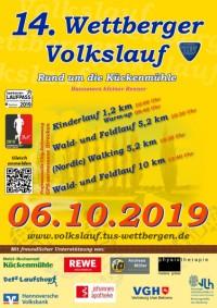 14. Wettberger Volkslauf am 06.10.2019